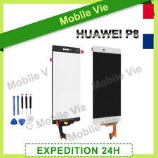 VITRE TACTILE + ECRAN LCD ORIGINAL POUR HUAWEI P8 BLANC + FILM