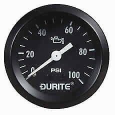 DURITE 0-533-16 Mechanical Oil Pressure Gauge with 12' Capillary - 52mm