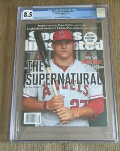 2012 Mike Trout Sports Illustrated Newsstand Edition RC CGC 8.5 No Label