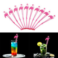 10pcs Tropical Flamingo Drink Stirrers Cocktail Coffee Sticks Summer Party Decor