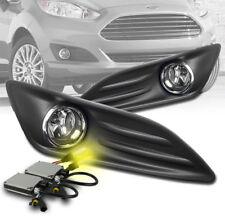 2014-2018 FORD FIESTA CLEAR BUMPER DRIVING FOG LIGHT LAMP CHROME W/3K XENON HID
