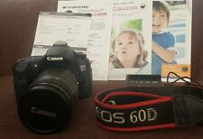 Canon EOS 60D 18.0MP Digital SLR Camera - Black with EF-S 18-200mm IS Lens