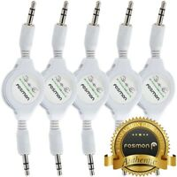 5x Retractable 3.5mm Aux Auxiliary Male to Male Stereo Audio Cable For MP3 CAR