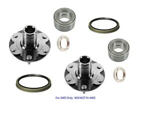 2 New Front Wheel Hubs Bearings Fit 4Runner Sequoia Tundra Tacoma 2WD With Seal
