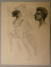 Dessin Original Fusain EDOUARD GOERG (1893-1969) Danseuse. EG6