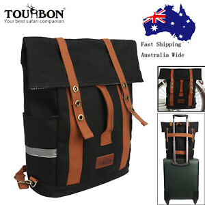 Tourbon Bike Pannier Rack Backpack Luggage Bag Storage Travel School Pack AUPOST