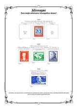 PAGES D´ALBUM - ALLEMAGNE ZONE A.A.S. & BIZONE 1945-->1949