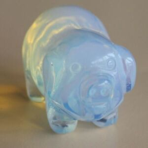 1.2'' Mini Hand carved white opalite pig animal figurine  carving  g5368