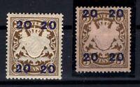 P135624/ BAYERN, OLD GERMANY – VARIETY – MI # 177-IIxb - 177-IIy MH – CV 135 $