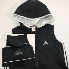 Adidas Running Hooded Sleeveless Full Zip Wind Jacket Adult Medium 2002 Model