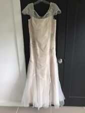 Salena Signature Sequined Wedding Dress, Size 14
