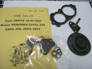 Mercedes Benz 220SB, 230S, 250S,280S Zenith 35-40 INAT carburetor kit NOS