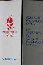 FEUILLET DE 10 TIMBRES 2F50 + 0,20 J.O. ALBERTVILLE 1992