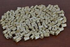 80 PCS COFFEE BROWN CARVED CROSS BUFFALO BONE TUBE BEADS 7MM #T-1673