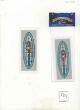 Simulated Stain Glass SLIM08 dollhouse miniature door insert  1/12 scale 1 sheet