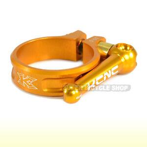 KCNC SC10  TI QR MTB ROAD Seatpost Clamp, 39mm  , Gold