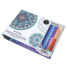 Vive Le Color! Meditation (Adult Coloring Book and Pencils): Color Therapy Kit