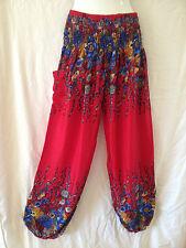 Ladies Harem Pants Summer Free Size 8 10 12 14 Also Maternity BNIP [RG-REF]