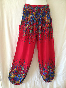Ladies Harem Pants Summer Free Size 16 18 20 Also Maternity BNIP [PS-REF]