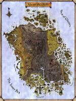 140230 Vvardenfell TES Morrowind Map Decor Wall Print Poster CA