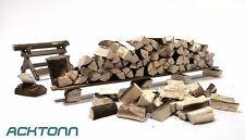 Diorama 1:24/1:25 Scale Model Scenery Display Accessories Kit Split Firewood