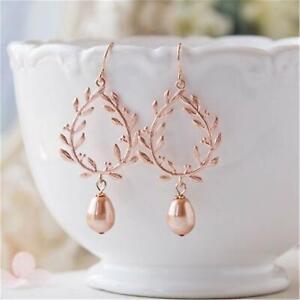 10-11mm Pink baroque pearl earrings 18k hook Fine delicate AAAA noble diy