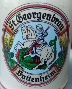 ++St Georgen Bräu Buttenheim Bamberg alter bunter Bierkrug  0,5 Liter++
