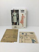 Vintage Ralph Lauren Vogue Pattern  Uncut American Designer Dress 2717 Size 12