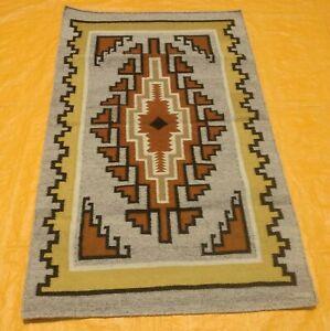 Old Traditional Hand Made Afghan Kilim Turkish Rug Gray Wool Small Size 3x5 ft