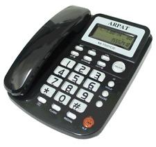 Telefono fijo de sobremesa con pantalla LCD funcion calculadora alambrico alarma