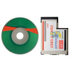 Notebook 5Gbps 54mm Express Card Expresscard to 2 Port USB 3.0 Laptop Adapter
