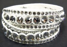 SLAKE WHITE DOT CLEAR CRYSTAL BRACELET 2016 SWAROVSKI JEWELRY #5240623