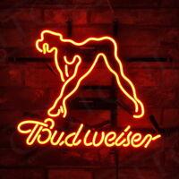 "17""x14"" Sexy Girl Bud Beer Custom Lamp Hand Craft Neon Sign Bar Shop Decor"