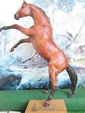 *** Peter Stone Rearing Horse - Woody Woodgrain