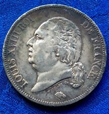 MONNAIE DE 5F ECU EN ARGENT LOUIS XVIII  ROI DES FRANçAIS 1816 A  PARIS