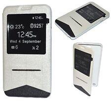 Housse Coque Etui View Blanc pour Samsung Galaxy NOTE 4