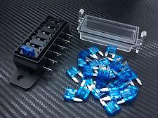 1PC 6 Way DC-12v Circuit Blade Fuse Box Block Holder + 50PC 15AMP Fuse F15MATC6Q