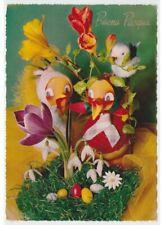 decorazioni pasquali vintage galline uova Foto Cartolina augurali Buona Pasqua