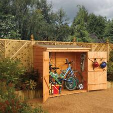 Wooden Vertical Flat Garden Sheds