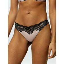 SHELL SIZE 18 ANN SUMMERS FLORAL SATIN /& MESH KNICKERS BNWT THONG BLACK