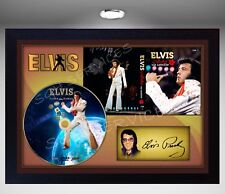 Elvis Presley Aloha from Hawaii SIGNED FRAMED PHOTO CD Disc Perfect gift #2