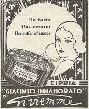 W2343 Cipria Giacinto Innamorato di Gi.vi.emme - Pubblicità del 1930 - Advert