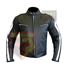 BMW 3874 BLACK MOTORBIKE COWHIDE LEATHER MOTORCYCLE BIKERS ARMOURED JACKET
