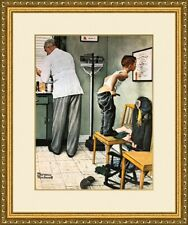 "Norman Rockwell print /""DISCIPLINARY ACTION/"" or /""THE SHINER/"" gender LGBTQ girl"