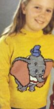 Disney Dumbo Jumper ( Childrens & Adult)  Knitting Pattern