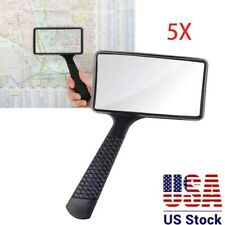 Handheld Rectangular 5X Magnifier Magnifying Glass Loupe For Reading Jewelry US
