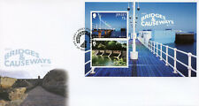 Jersey 2018 FDC Bridges & Causeways Europa 2v M/S Cover Architecture Stamps