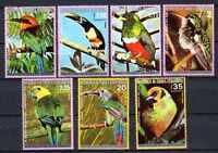 Vögel Guinea Äquatorial (23) Serie komplette mit 7 Briefmarken entwertet