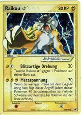 Pokemon Tarjeta Raro Antiguo Ex Verborgene Mächte 114/115 Raikou Goldstar