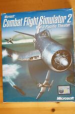 Pacific Theatre Combat Flight Simulator 2 Used VG Original Complete 2 Books CD
